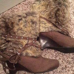 Naughty Monkey faux fur boots